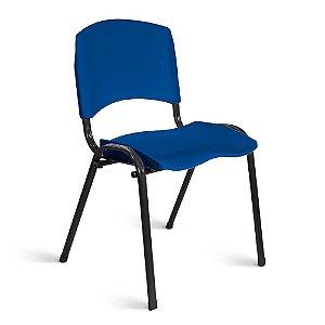 Cadeira Plástica Fixa A/E Azul Lara