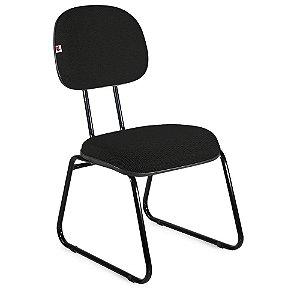 Cadeira Secretária Pé Sky Tecido Preto