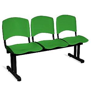 Longarina Plástica 3 Lugares A/E Verde Lara