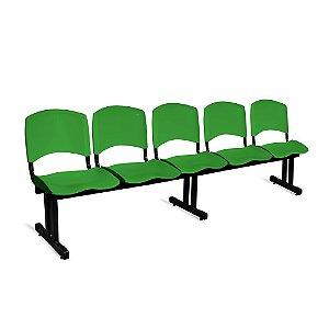 Longarina Plástica 5 Lugares A/E Verde Lara