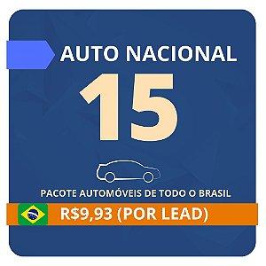 Pacote de Leads de Consórcio de Automóvel com 15 contatos (Nacional)