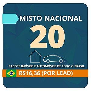 Pacote de Leads de Consórcio Misto (Imóvel e Automóvel) com 20 contatos (Nacional)