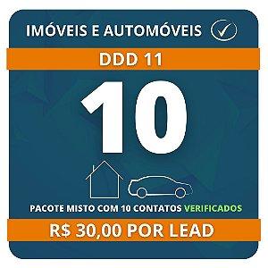 10 Leads de Consórcio (Imóvel e Automóvel) validados DDD11
