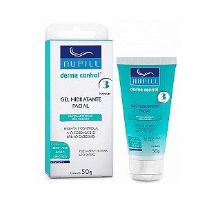 Gel Hidratante Facial P/Pele Oleosa Derme Control Nupill 50g