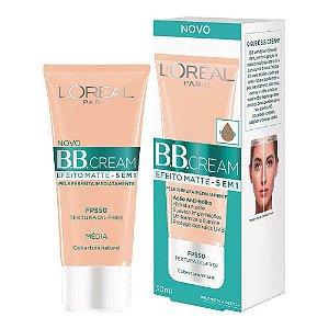 BB Cream Loreal Efeito Matte Fps50 -Média