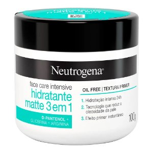 Neutrogena Face Care 100gr Hidratante Matte 3 Em 1