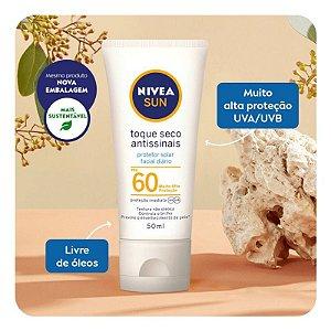 Protetor Solar Facial Nivea Sun Toque Seco Antissinais Fps60