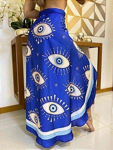 Saia Pareô Olho Grego Azul
