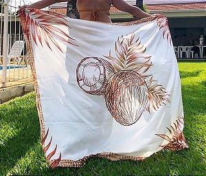 Saia Pareô Transpassada Estampada Cocobamboo