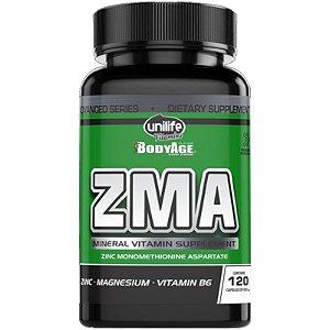 ZMA - Zinco, Magnésio e Vitamina B6 | 120 cápsulas - Unilife