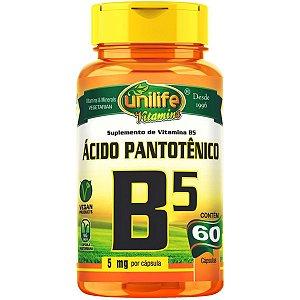 Vitamina B5 - Unilife | 60 cápsulas