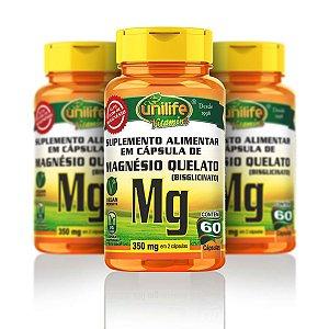 Magnésio Quelato - Unilife | 60 cápsulas