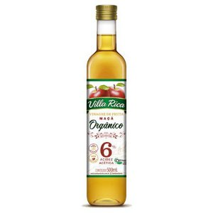 Vinagre De Maçã Orgânico 6% 500ml - Villa Rica