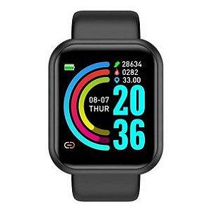 Smartwatch D20 Plus Relógio Inteligente Caixa Pulseira Preto