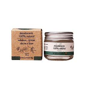 Desodorante Natural - Maleuca, Cipreste, Alecrim e Litsea - Ares de Mato - 33g