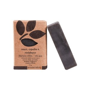 Shampoo Sólido Neem, Copaíba e Melaleuca - Cabelos Normais e Oleosos - Ares de Mato - 115g