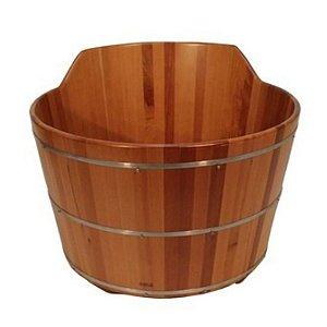Ofurô Redondo Individual com Espaldar - Ofurô confeccionado em madeira - MULTIFORMA.