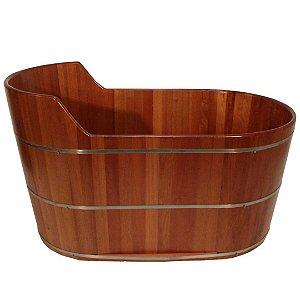 Ofurô Oval Individual com Espaldar - Ofurô confeccionado em madeira - MULTIFORMA