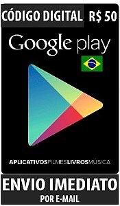 Cartão Google Play Brasil - R$ 50