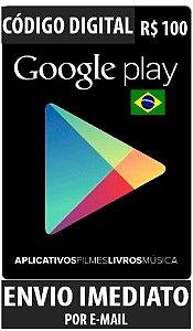 Cartão Google Play Brasil - R$ 100