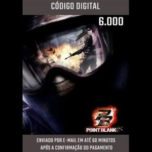 POINT BLANK - CARTÃO PB DE 6.000 CASH