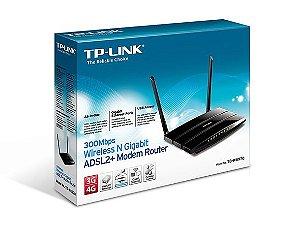 Modem Roteador Wireless Adsl2+ N Gigabit TP-Link TD-W8970