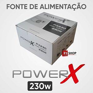 Fonte Atx Power X 230w PX230w Nova Com Caixa e Cabo de Força