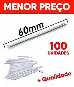 Tubete Protetor Para Emenda De Fibra Óptica 60mm 100 Unidades