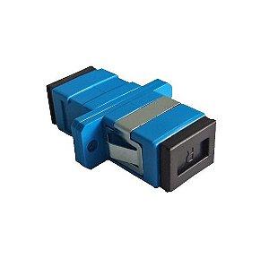 Kit 50 Peças Adaptador Óptico Simplex SM SC/Upc Azul Com Aba