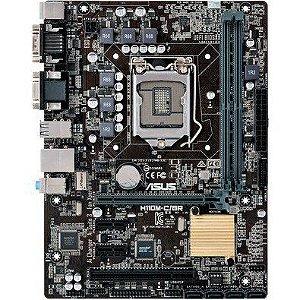 Placa Mãe Asus H110M-C 1151 DDR4 Intel Core i7 / i5 / i3 / Pentium / Celeron