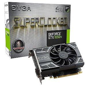 Placa de Vídeo Gamer GTX 1050 TI Nvidia EVGA Gaming 4GB DDR5