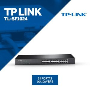 Switch Tp Link 24 Portas Tl-Sf1024 10 / 100 Mbps
