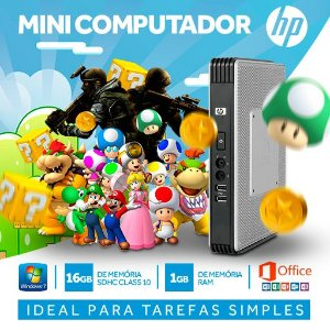 Mini pc Ideal Para Empresas Com Windows 7 + Office