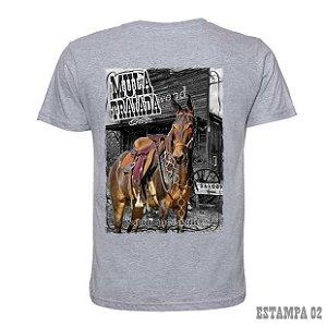 Camiseta Muladeiros cinza c/ estampa