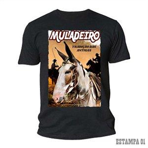 Camiseta Preta dos Muladeiros c/ estampa