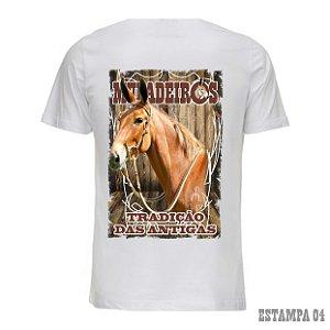 Camiseta Muladeiros branca c/ estampa