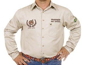 Camisa Masculina Tradição das Antigas Manga Longa