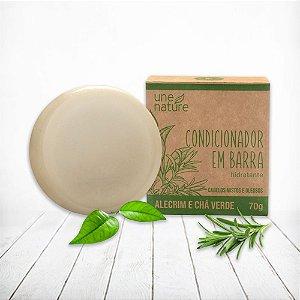Condicionador em Barra Alecrim e Chá Verde Une Nature Arte dos Aromas 70g