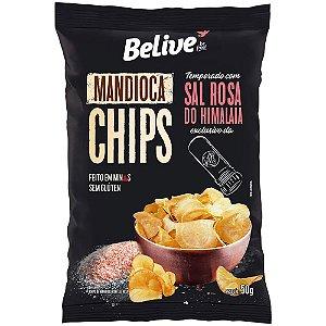 Chips de Mandioca Com Sal Rosa Do Himalaia (50g) - Belive