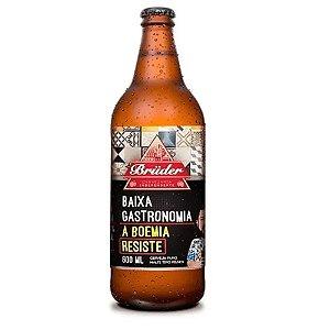 Cerveja Zero Carboidratos Baixa Gastronomia Bruder Puro Malte 600ml