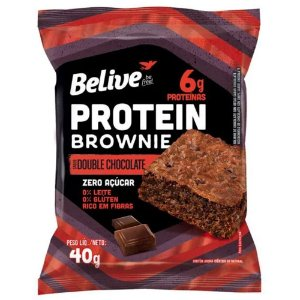 Brownie Protein Double Chocolate Sem Açúcar (40g) - Belive