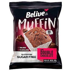 Muffin Double Chocolate Sem Glúten Sem Lactose e Zero Açúcar - Belive