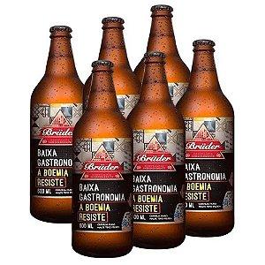 Kit 6 Cervejas Bruder Puro Malte Baixa Gastronomia 600ml Zero Carboidratos
