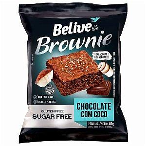 Brownie Chocolate Com Coco Sem Açúcar (40g) - Belive