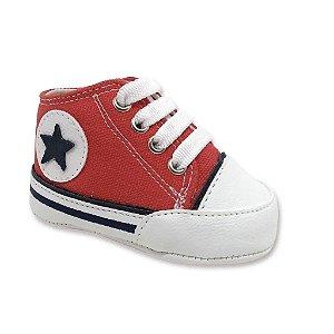 Sapatinho De Bebê All Star Tênis Super Confortável Para Recém Nascido Com Sola Macia