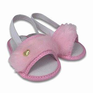 Chinelo Pelúcia bebê menina pantufa sapatinho de bebê chinelinho confortável barato