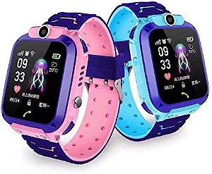 Relógio Smartwatch Infantil Q12 Gps Sos Localizador De Criança