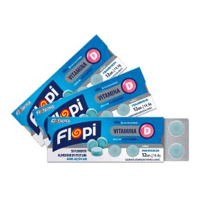 Pastilha de Vitamina D (3 Cartelas 12un cada) - Flofarma