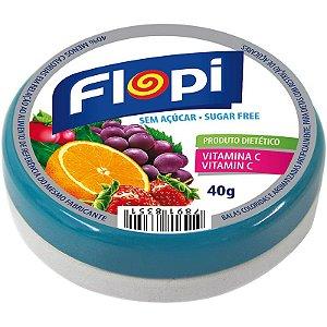 Bala Flopi Fruit Mix - Zero Açucar 40g
