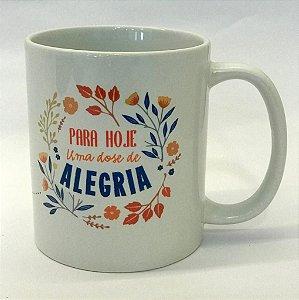 Xícara de porcelana Alegria 300ml